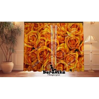 Фотошторы Оранжевые розы