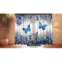 Фотошторы Синие бабочки