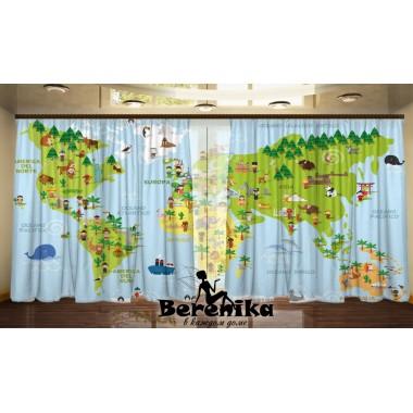 Панорама Карта мира с детьми