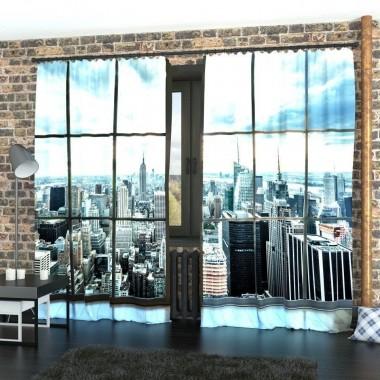 Фото Штори Вікно в Манхеттен