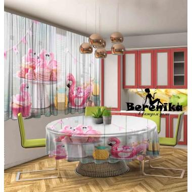 Фотошторы Фламинго печенье