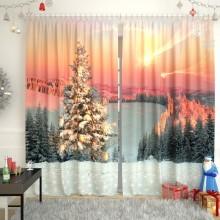 Новогодние шторы коллекция 2
