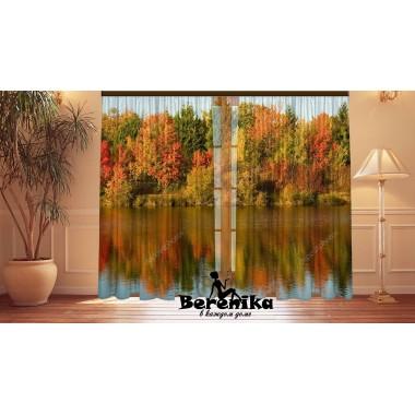 Фотошторы Осеннее озеро