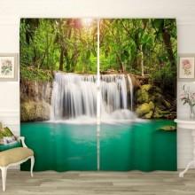 Фотошторы Водопад в джунглях