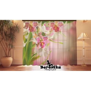 ФотоТюль Ирисовые орхидеи АКЦИЯ