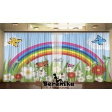 Панорама Бабочки и радуга