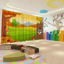 Штори для дитячого садка Осінь 1