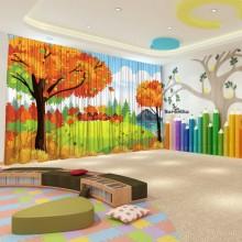 Штори для дитячого садка Осінь 10