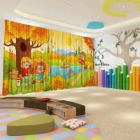 Штори для дитячого садка Осінь 11