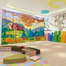 Штори для дитячого садка Осінь 12