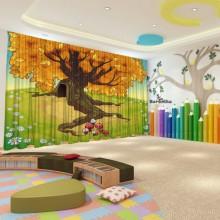 Штори для дитячого садка Осінь 16
