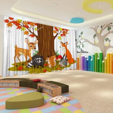 Штори для дитячого садка Осінь 34
