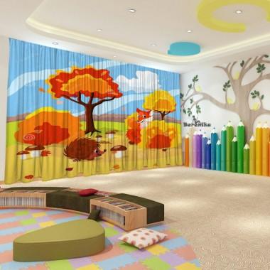 Штори для дитячого садка Осінь 35