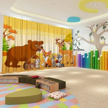 Штори для дитячого садка Осінь 36