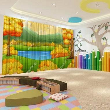 Штори для дитячого садка Осінь 37