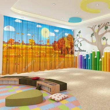 Штори для дитячого садка Осінь 38