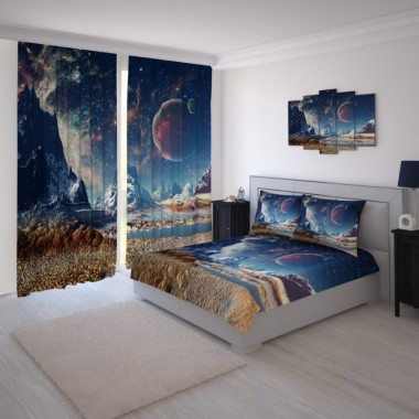 Штори в спальню комплект 113