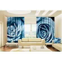 Фотошторы Синяя роза