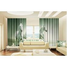 Фото штори Дві конячки