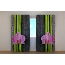 Фотошторы Орхидеи и бамбук 2