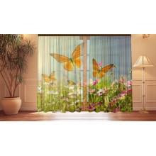 Фотошторы Бабочки и полевые цветы
