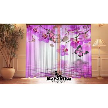 Фотошторы Орхидеи бабочки 3