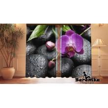 Фотошторы Орхидеи на камнях