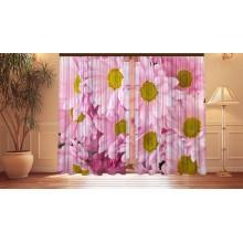 Фотошторы Розовые хризантемы