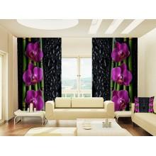 Фотошторы Орхидея и бамбук 4