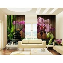 Фотошторы Орхидея и бамбук 3