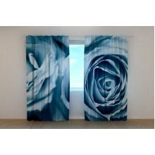 Фотошторы Розы в голубых тонах