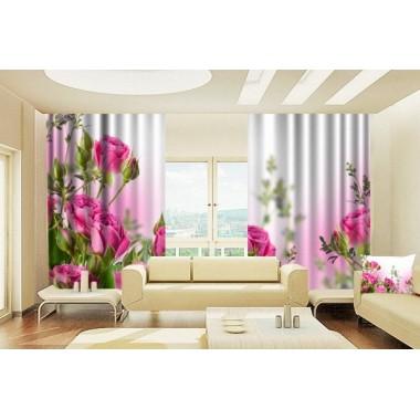 Фотошторы Розовые розы 2