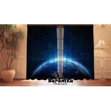 Фотошторы Земля в космосе