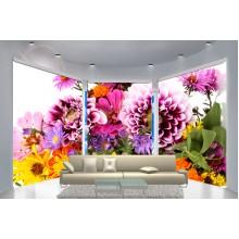 Фотошторы для эркера Цветы