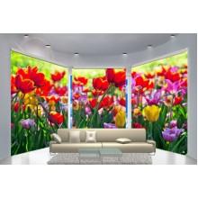 Фотошторы для эркера Цветы 2