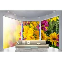 Фотошторы для эркера Цветы 4