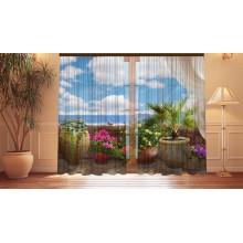 Фотошторы Цветочный балкон