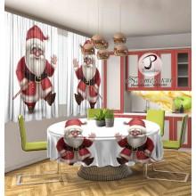 Фотошторы Два Санта Клауса