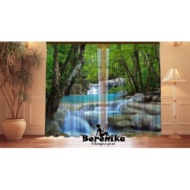 Фотошторы Голубой водопад