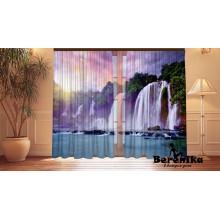 Фотошторы Водопад на закате