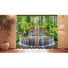 Фотошторы Водопад с цаплями