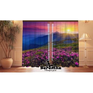 Фотошторы Цветочные горы 2