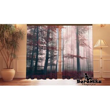 Фотошторы Красный лес