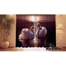 Фотошторы Лебеди на закате