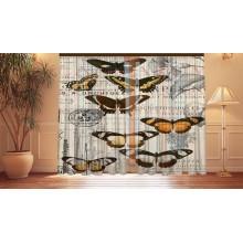 Фотошторы Винтажные бабочки