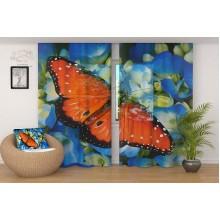 ФотоТюль Бабочка на цветах