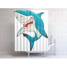 Шторки для ванной c фотопринтом Акула 2