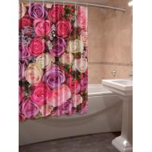 Шторки для ванной c фотопринтом Ассорти из роз