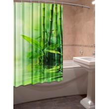 Шторки для ванной c фотопринтом Бамбук